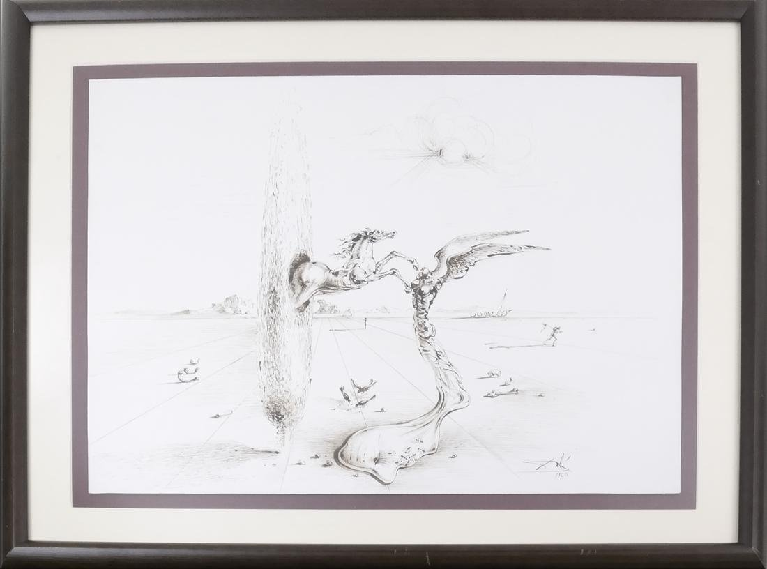 """Salvador Dali, """"The Reality of a Dream"""" - Pen & Ink - 5"""