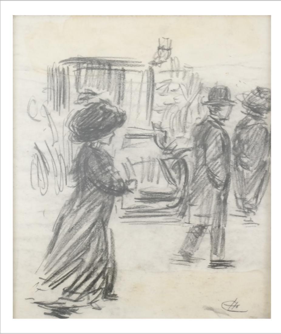 Charles Heinlen Street Scene Drawing