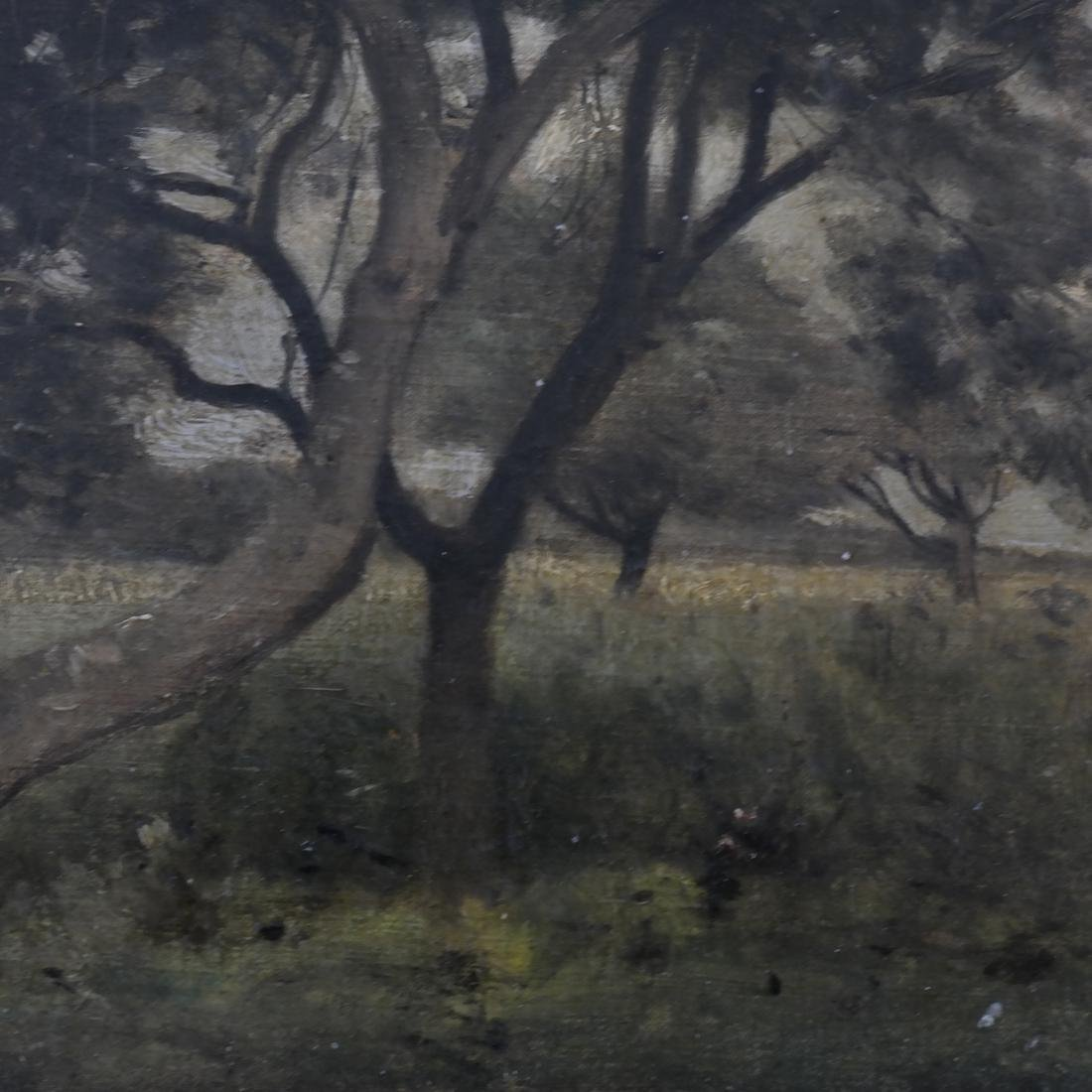 Corot, Figure Near Tree - Oil on Canvas - 4