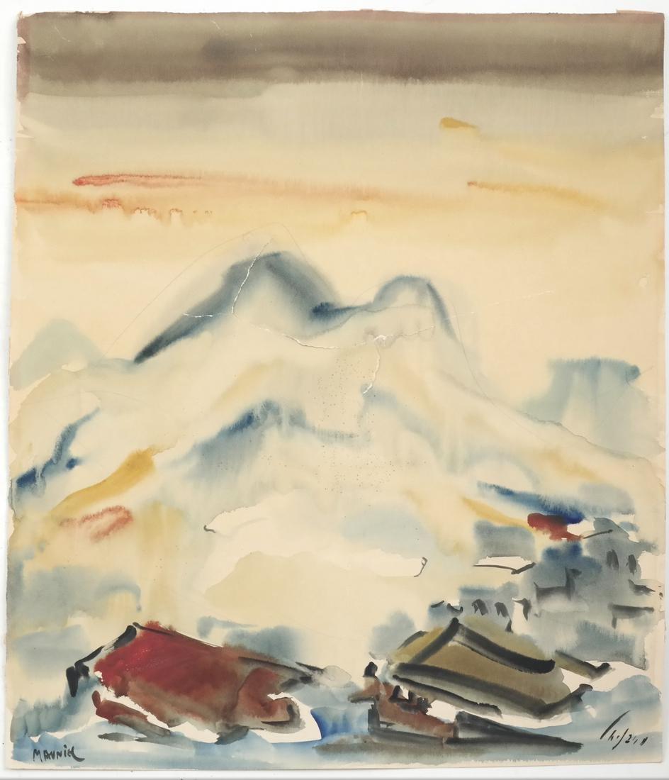 Assorted Folio of Art & 3 Watercolors - 4
