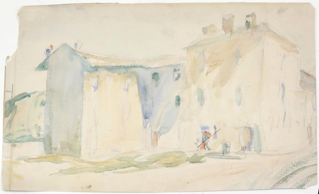 Assorted Folio of Art & 3 Watercolors - 8