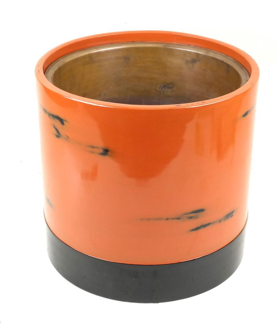 Orange Lacquered Planter