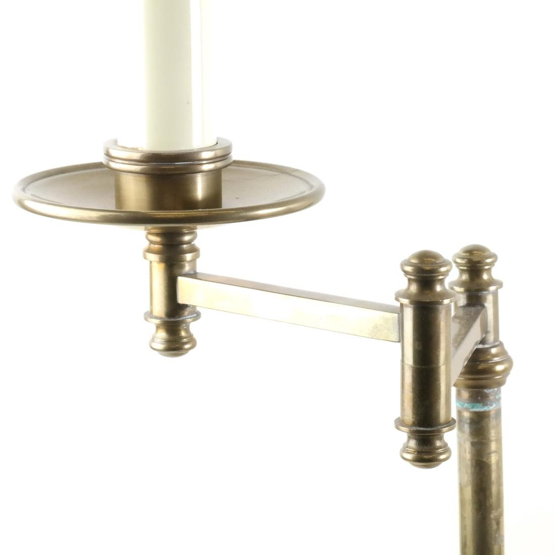 Two Lamps; Brass, Crystal - 6