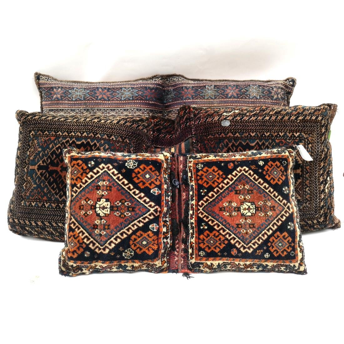 Three Seat Cushions From Repurposed Oriental Rugs