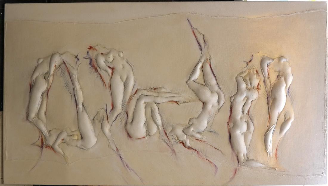 P. Mauro, Acrylic on Canvas - Nudes