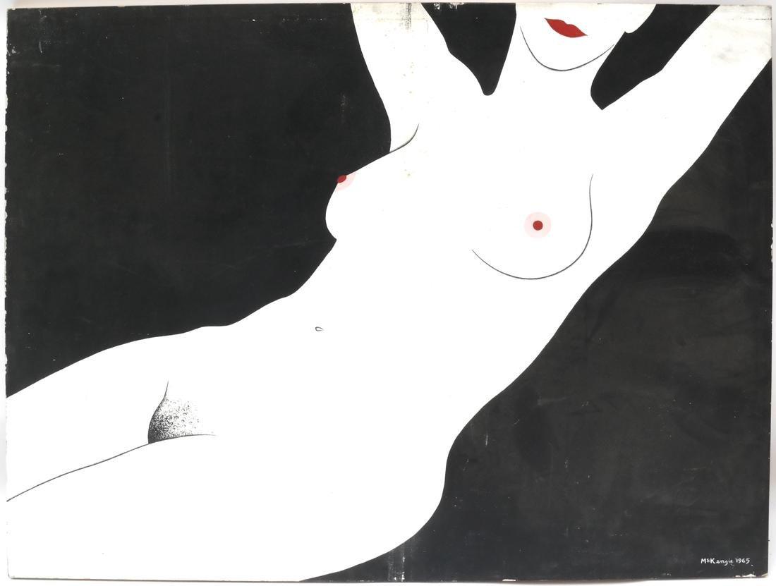 McKenzie, Oil on Masonite, Female Nude - 2