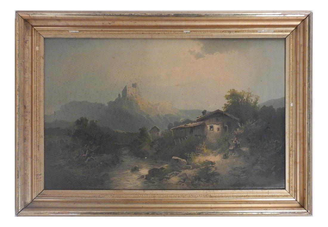 Miller Landscape-Figures at a Farm House