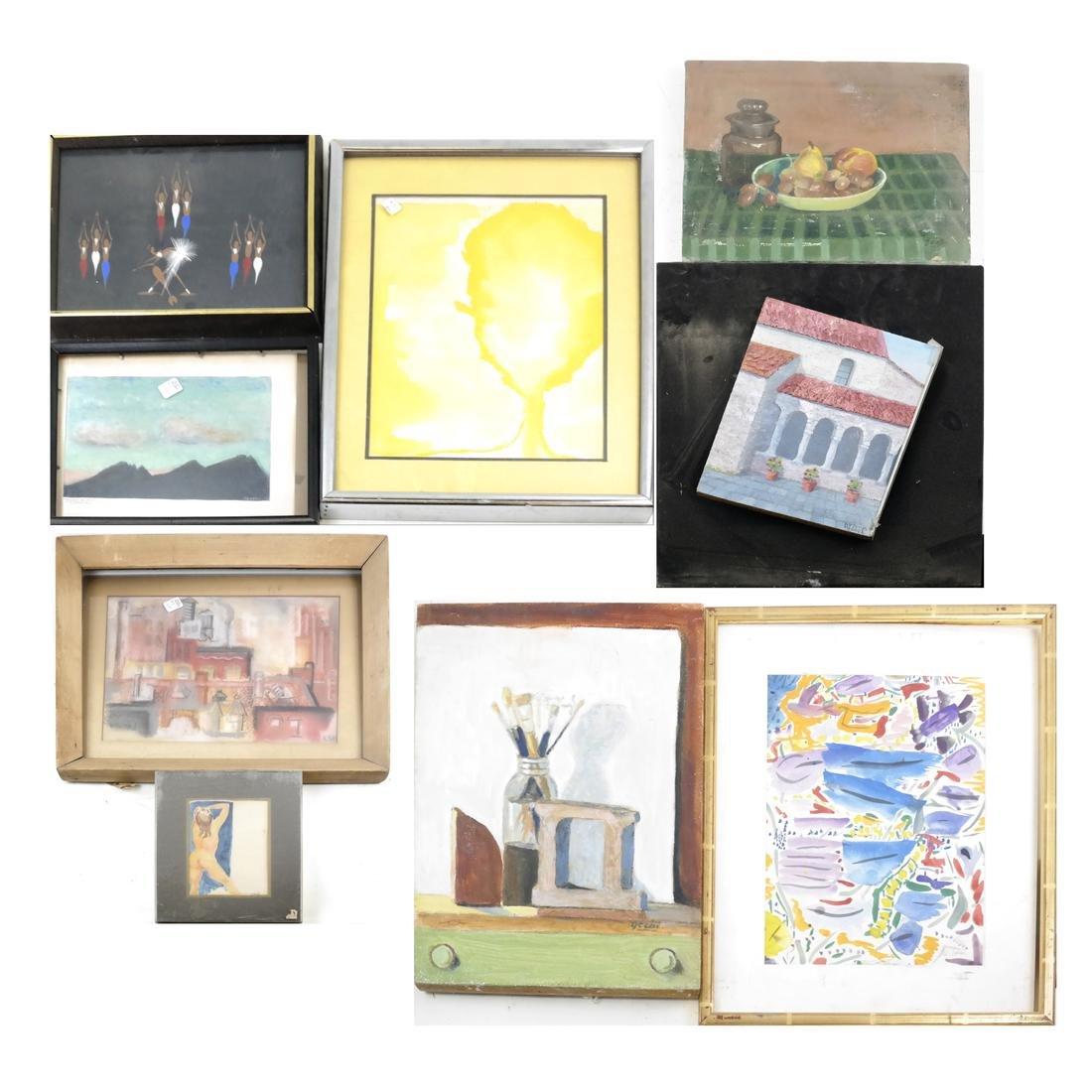 Box Lot of Art