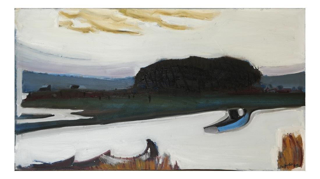 """Carpentier, """"Landscape,"""" Oil on Canvas"""