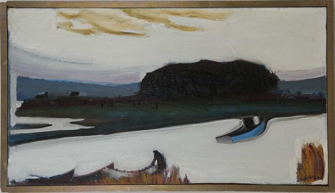 """Carpentier, """"Landscape,"""" Oil on Canvas - 2"""