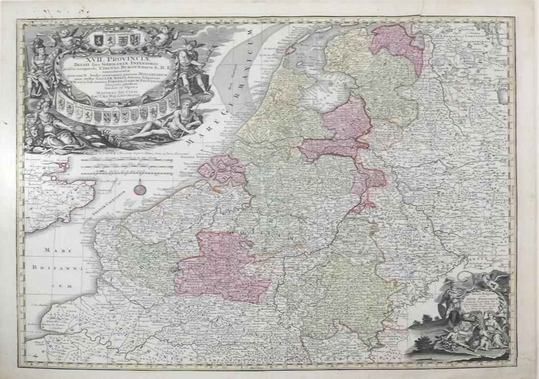 """Map """"Totum Belgium XVII Provincia"""""""