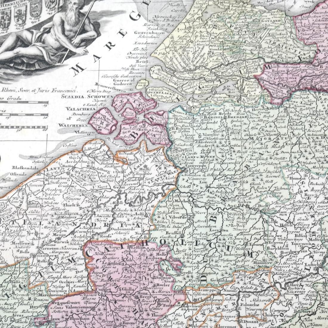 """Map """"Totum Belgium XVII Provincia"""" - 4"""