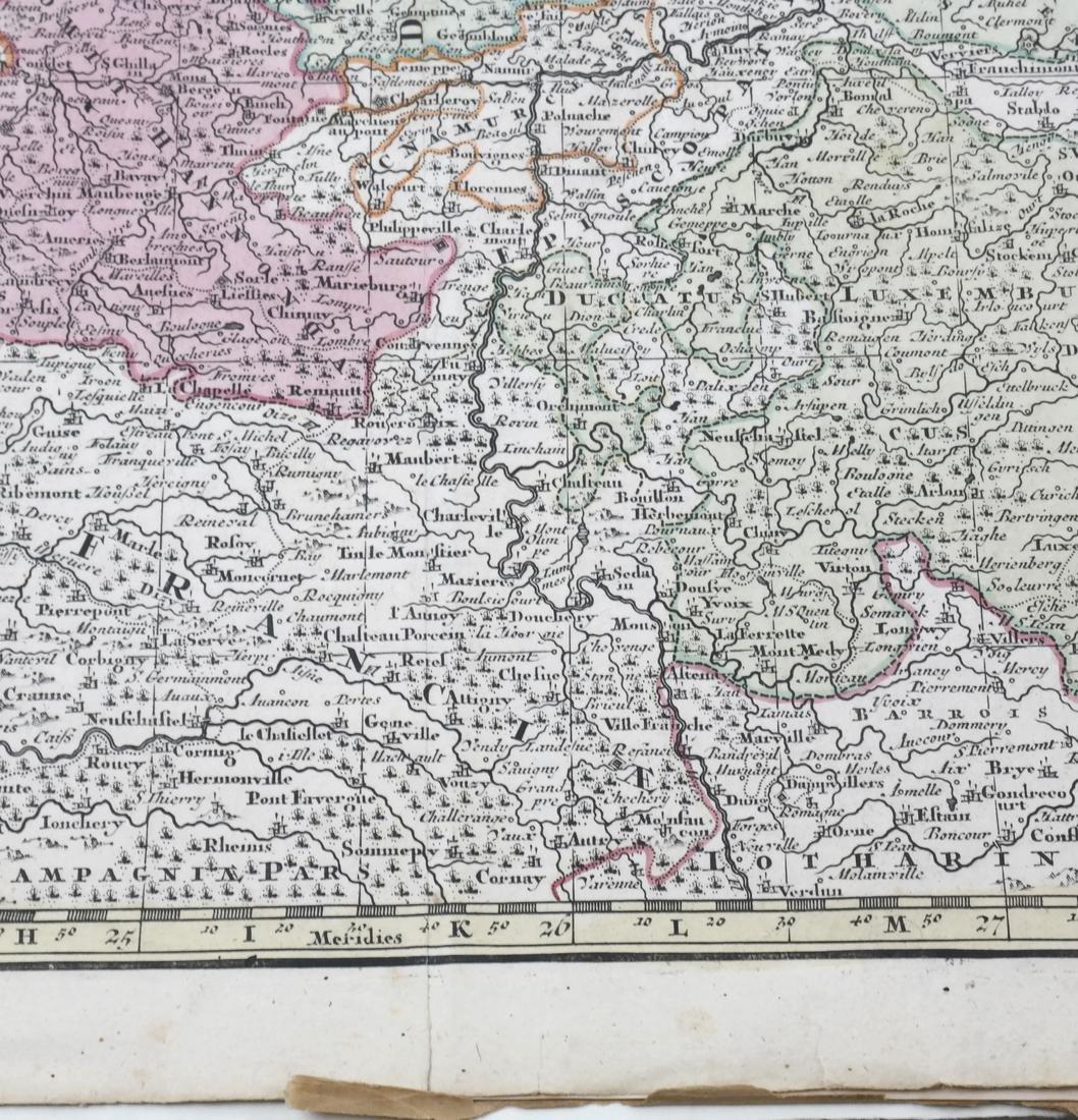 """Map """"Totum Belgium XVII Provincia"""" - 7"""