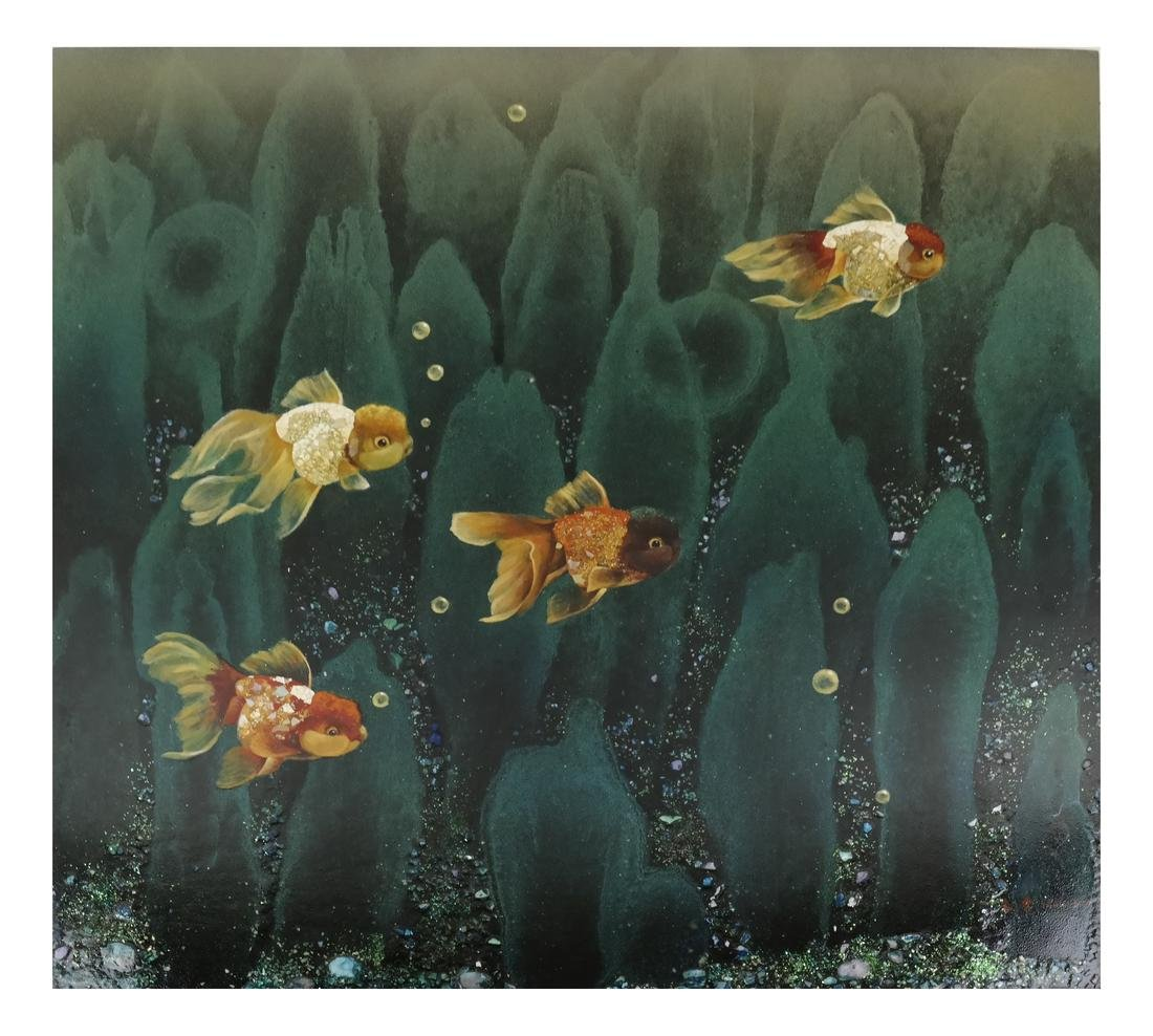 Asian Painting, Shubunkin Goldfish