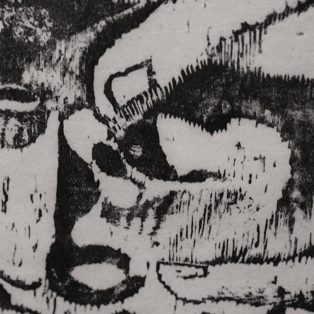 Ida Abelman, Woodcut - Philosophers - 5