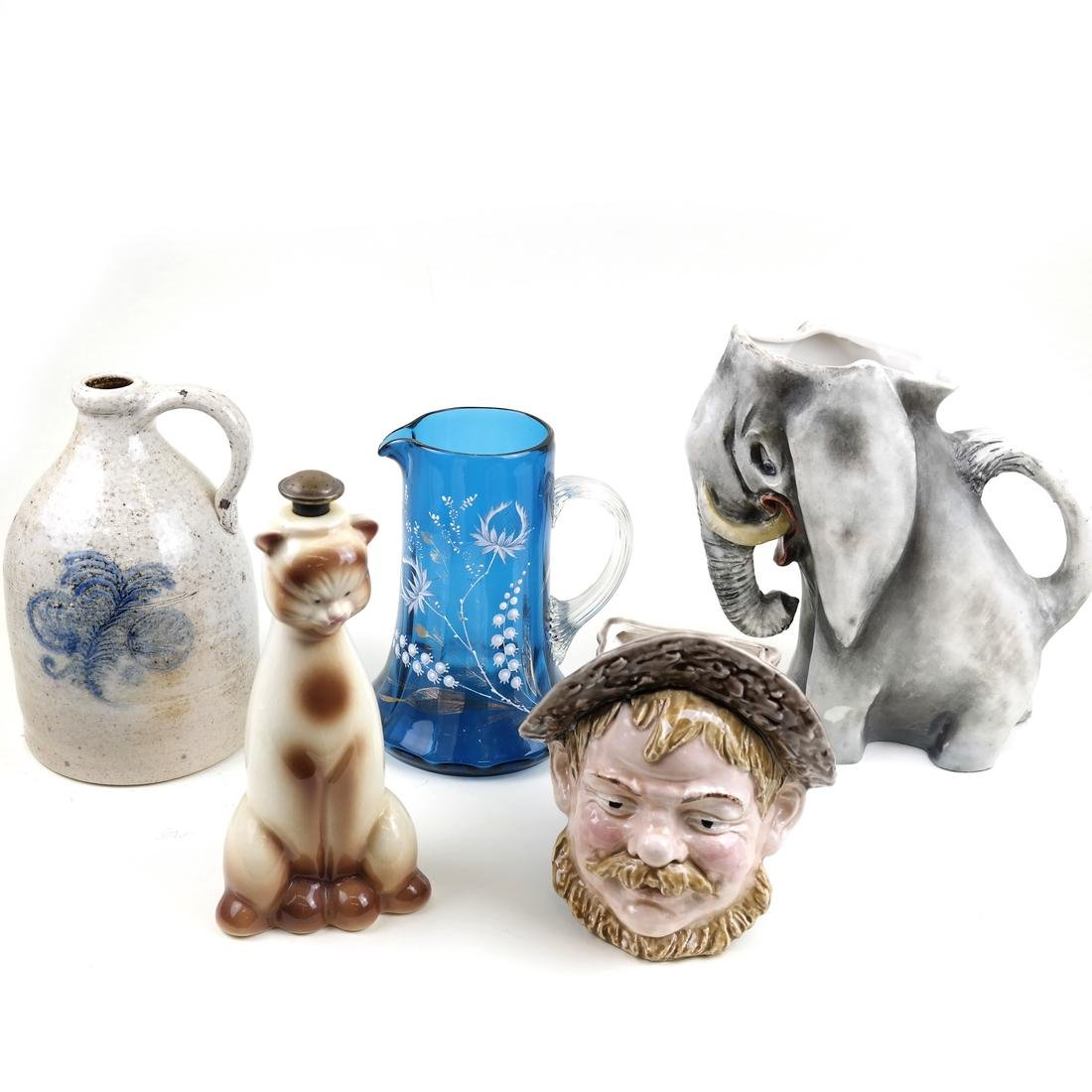 Amphora Elephant Pitcher and Four Others