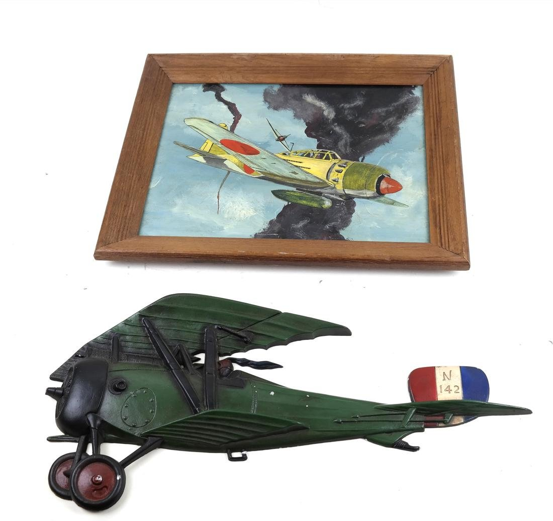 Sexton Metal Air Plane and Airplane Fighter Painting