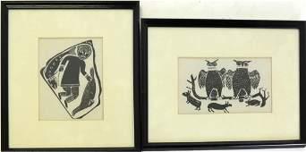 Two Inuit Rubbings