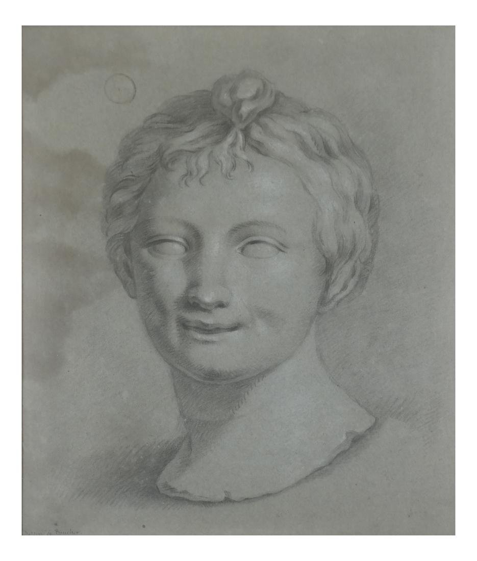 Classical Grisaille Portrait of a Man