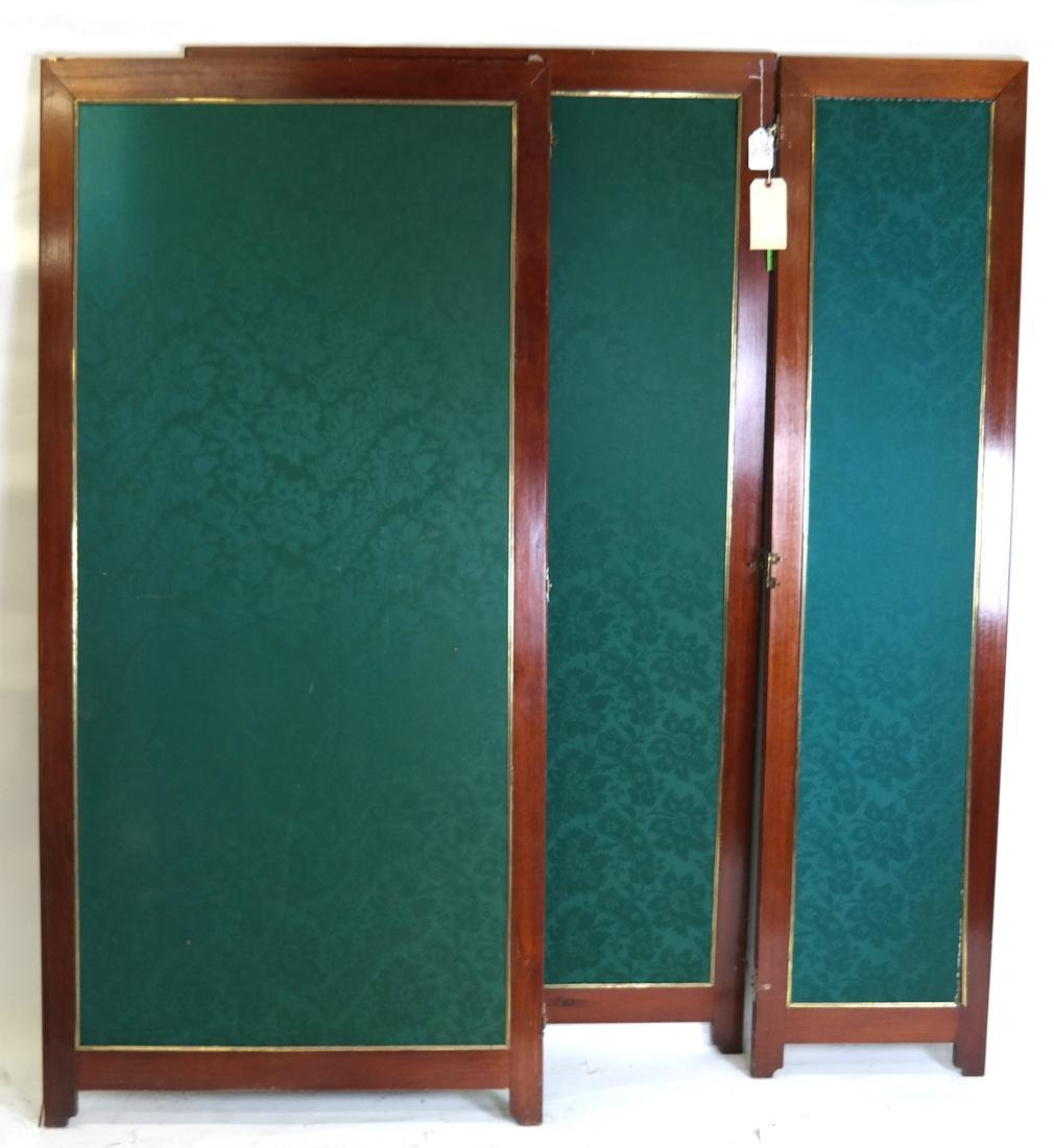 Upholstered 3-Part 19th Century Room Divider