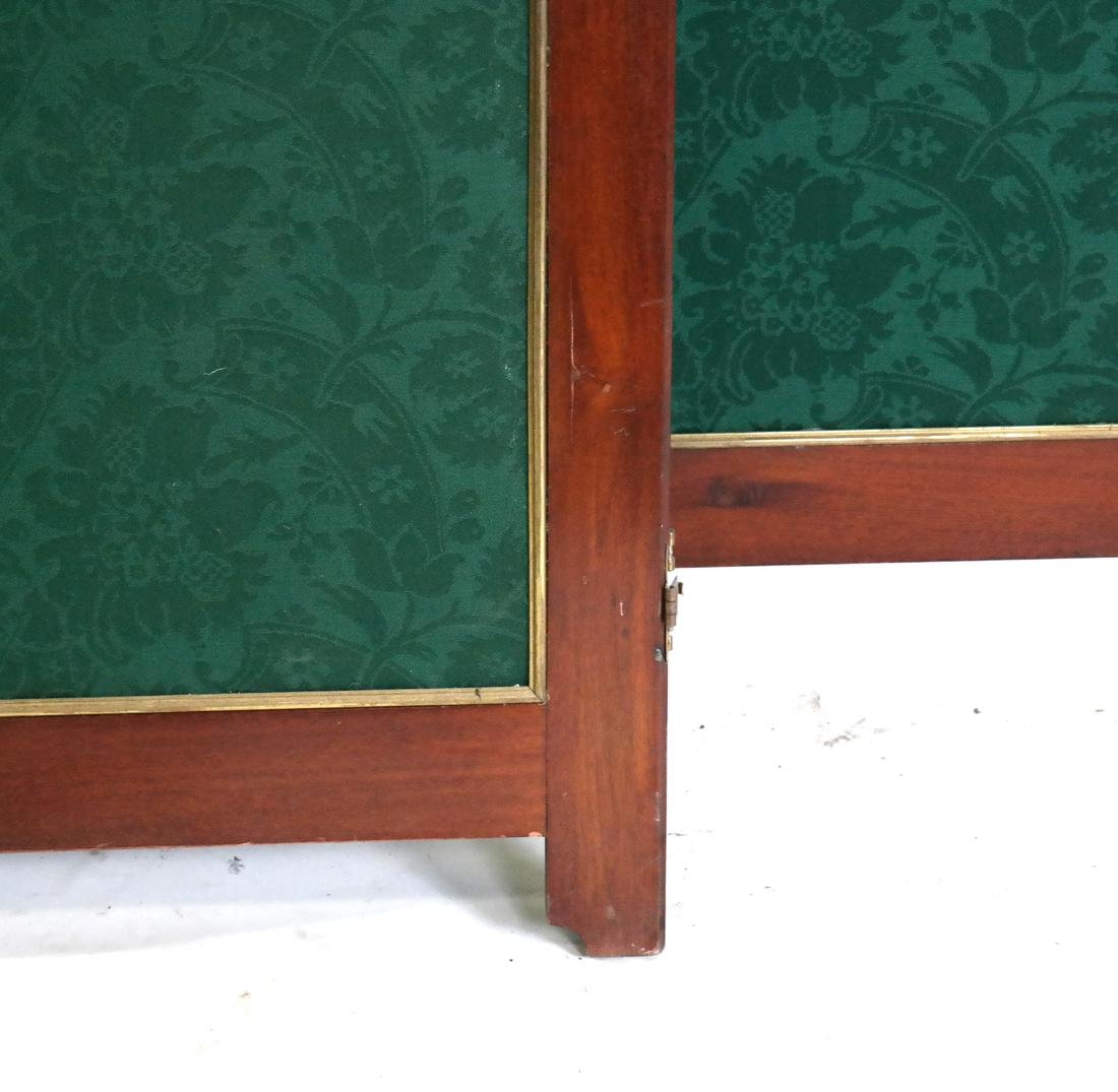 Upholstered 3-Part 19th Century Room Divider - 2