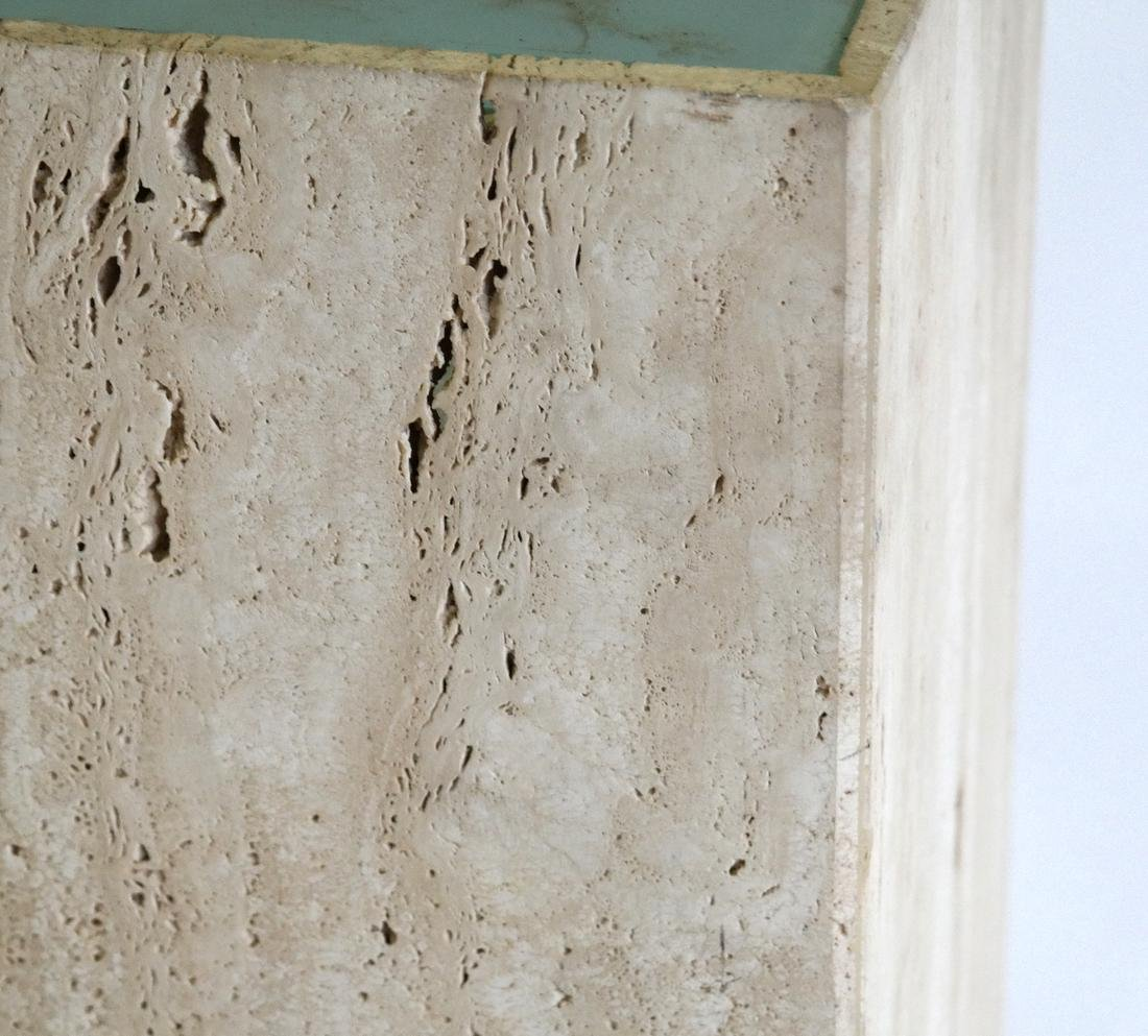 Travertine Marble Pedestal with Electrified Glass Top - 3