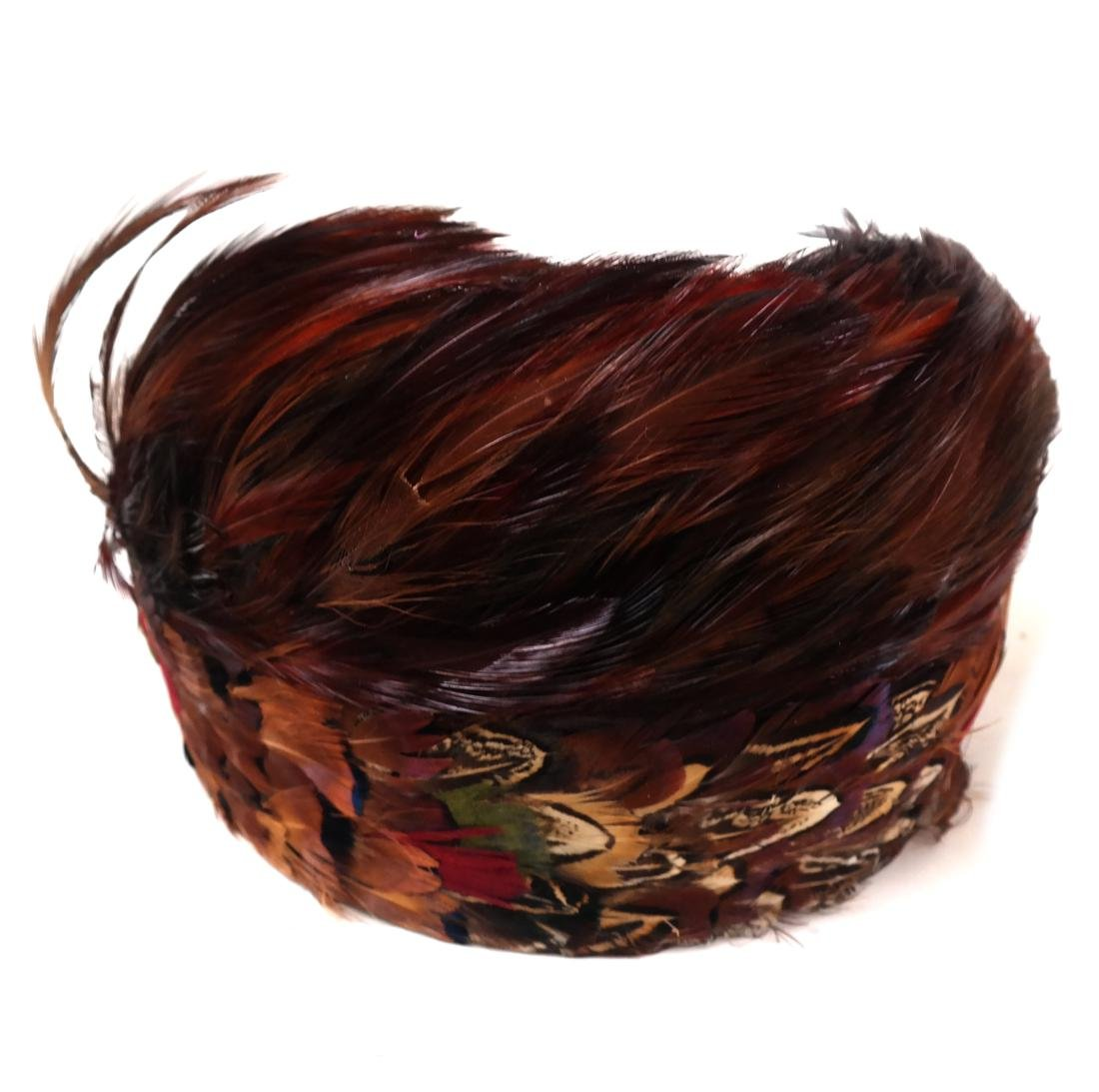 Five Feather Hair Barrettes and a Scarf - 5