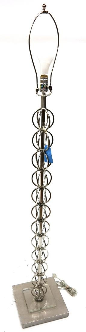 Bronze Bench and Stainless Steel Floor Lamp - 2