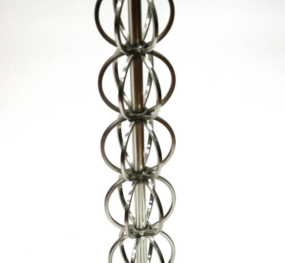 Bronze Bench and Stainless Steel Floor Lamp - 3