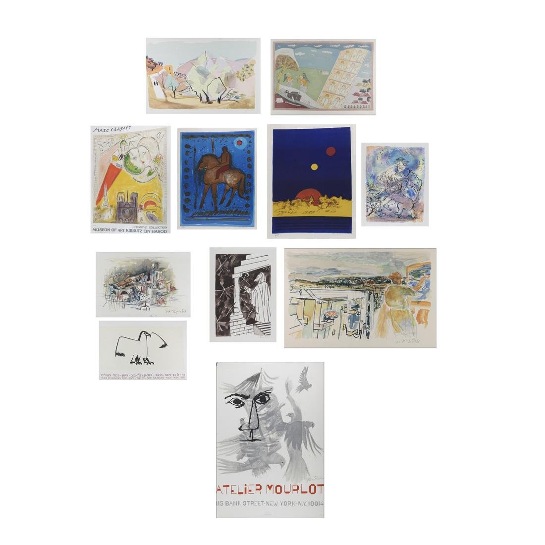 Group of Lithographs, Posters, Graphics; Chagall, more