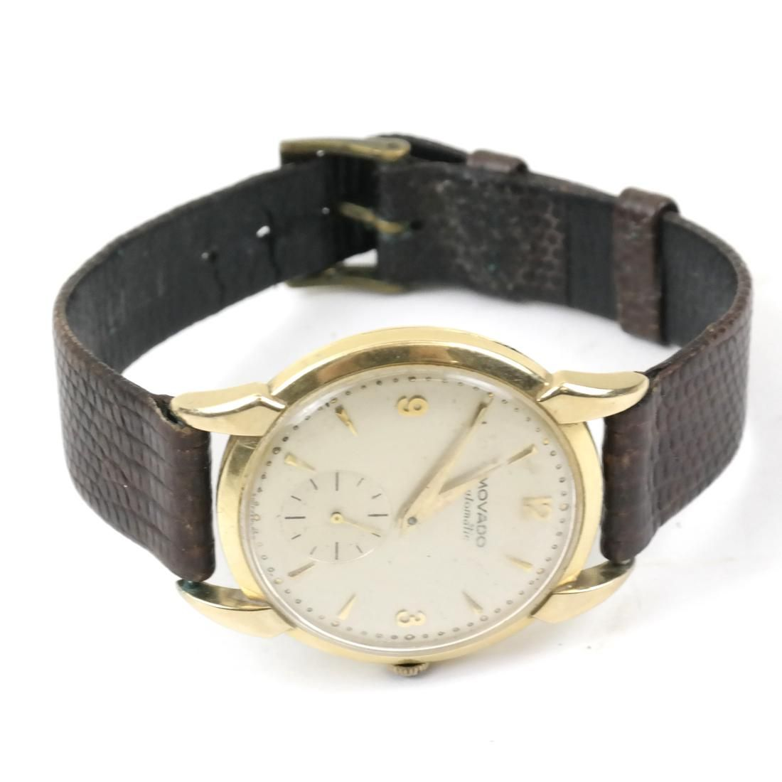 Movado Automatic Gold-Filled Men's Wrist Watch
