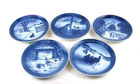 Five Royal Copenhagen Commemorative Plates