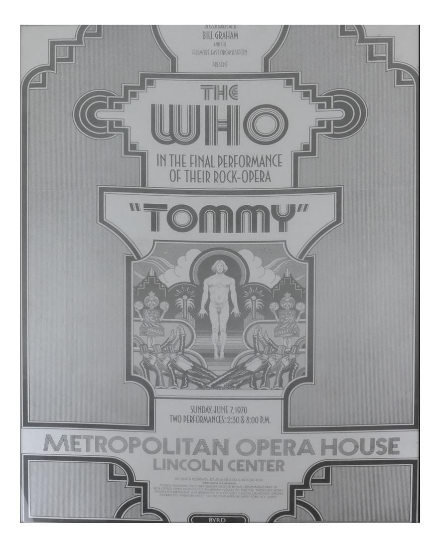"Poster, The Who - ""Tommy"" Lincoln Center"