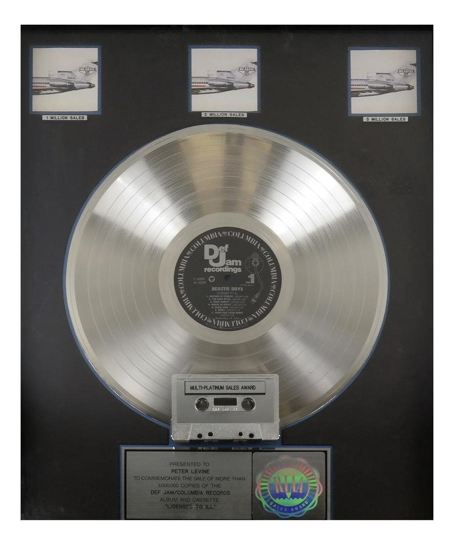 Beastie Boys Platinum Record