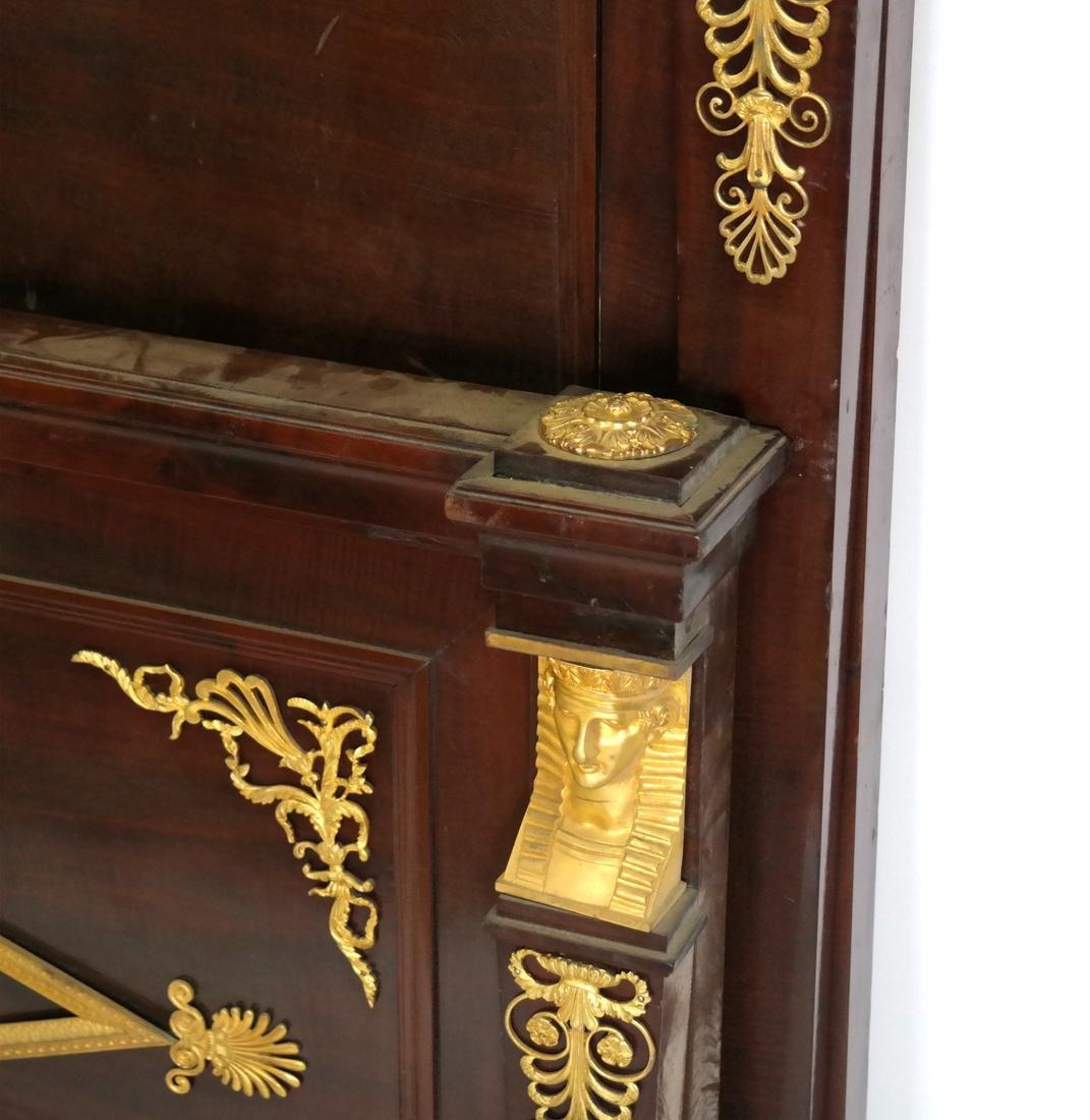 French Empire Bronze Dore Bed - 7