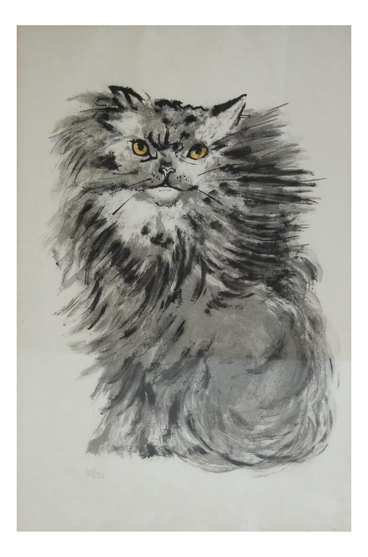 Signed Lithograph - Cat