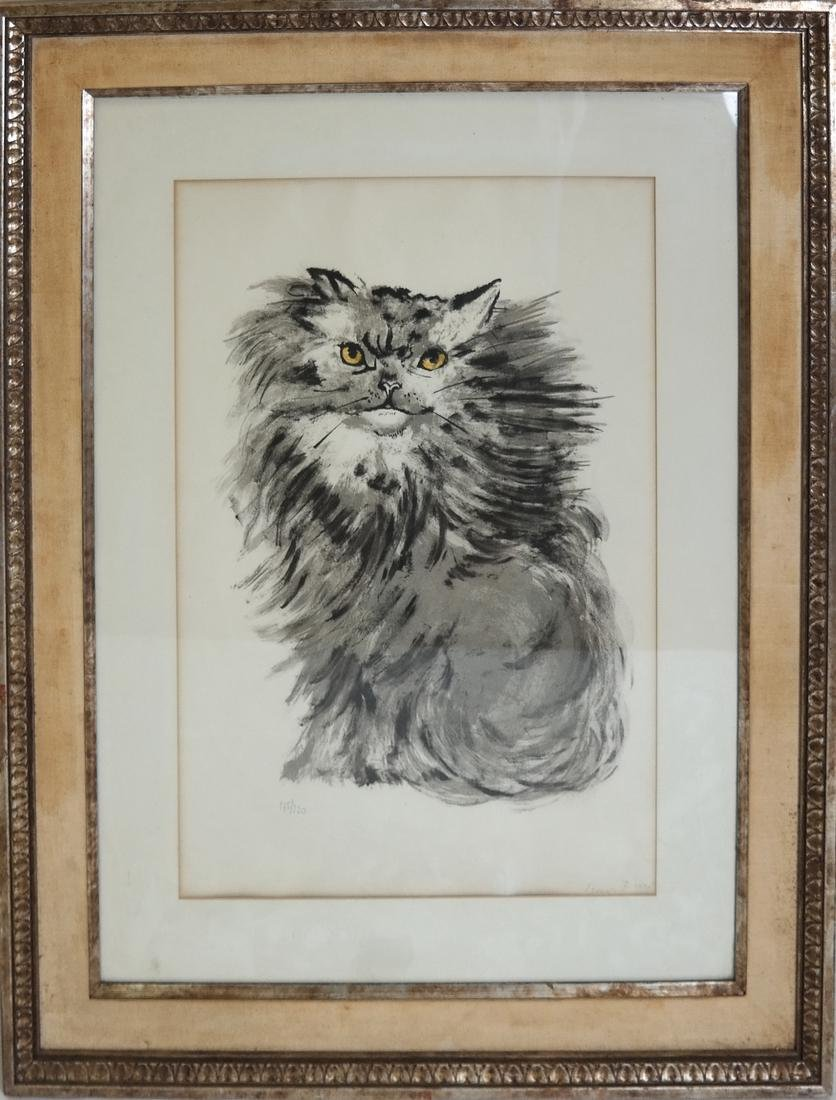 Signed Lithograph - Cat - 2