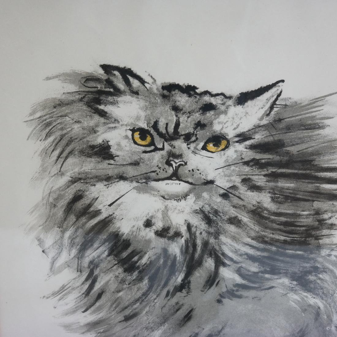 Signed Lithograph - Cat - 3