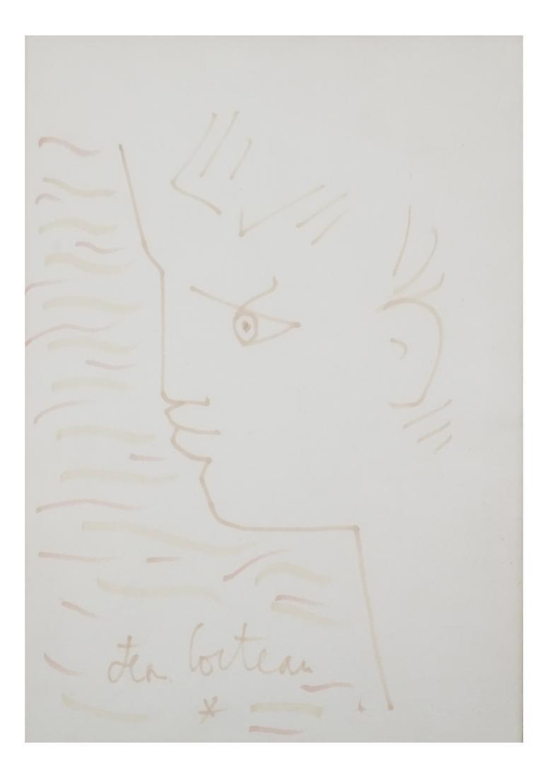 Jean Cocteau Portrait Watercolor