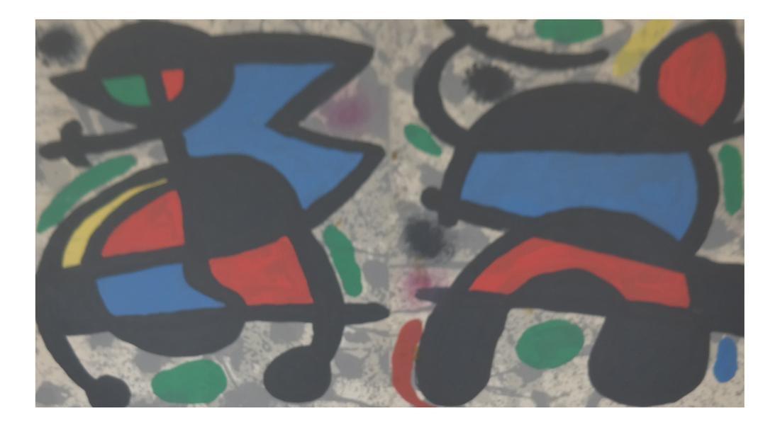 """Joan Miro """"as is"""" Print"""