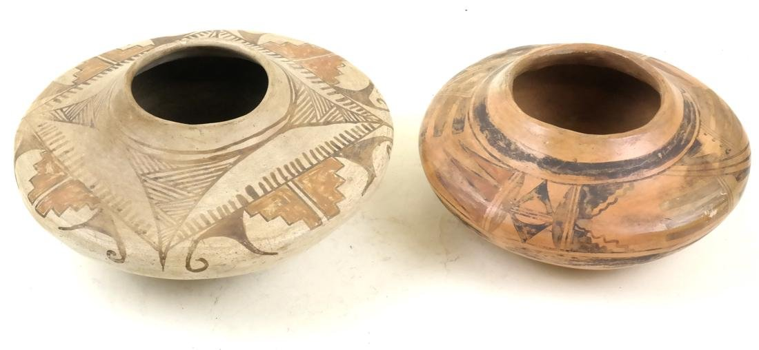 Two Unsigned Native American Decorated Vessels