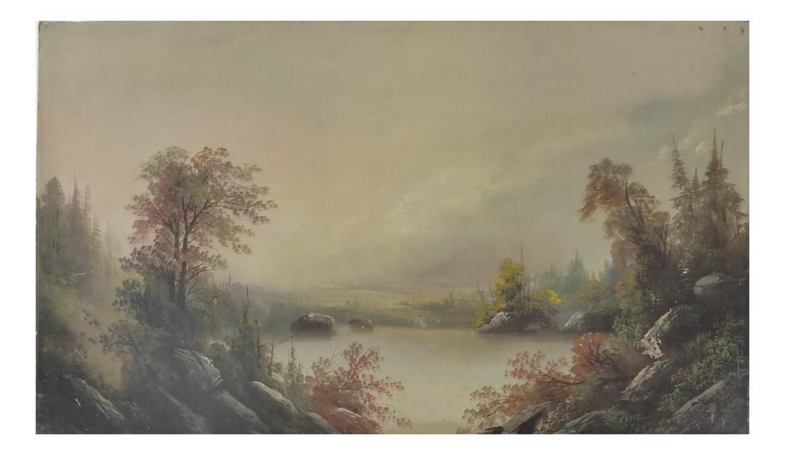Unframed Oil on Panel - Landscape