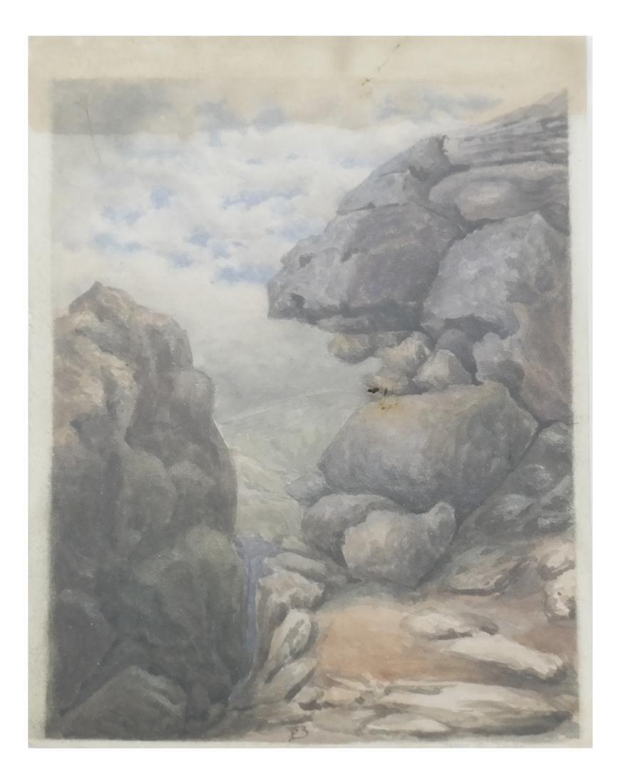 James B. Smith, Rocky Coast - Watercolor