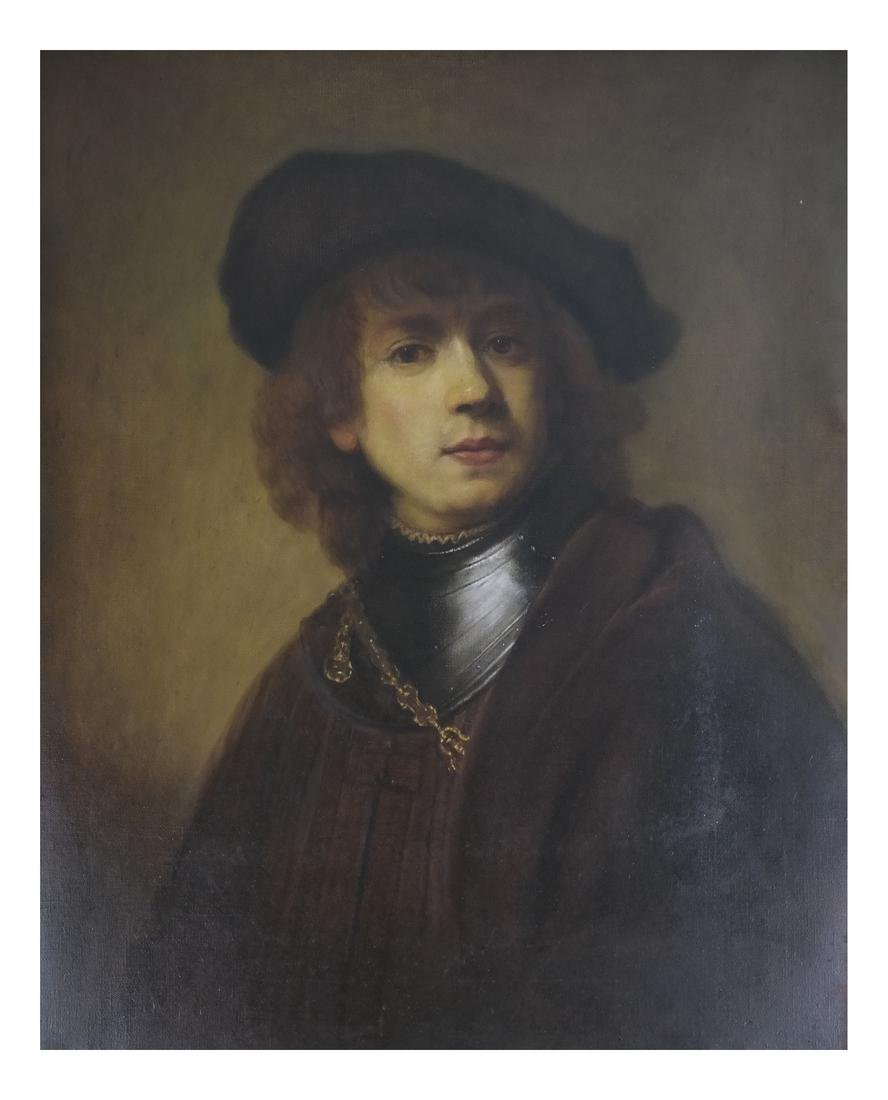 A. Guerrieri, Portrait after Rembrandt - Oil on Canvas