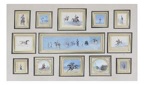 Miniature Continental Military Paintings  Gouaches