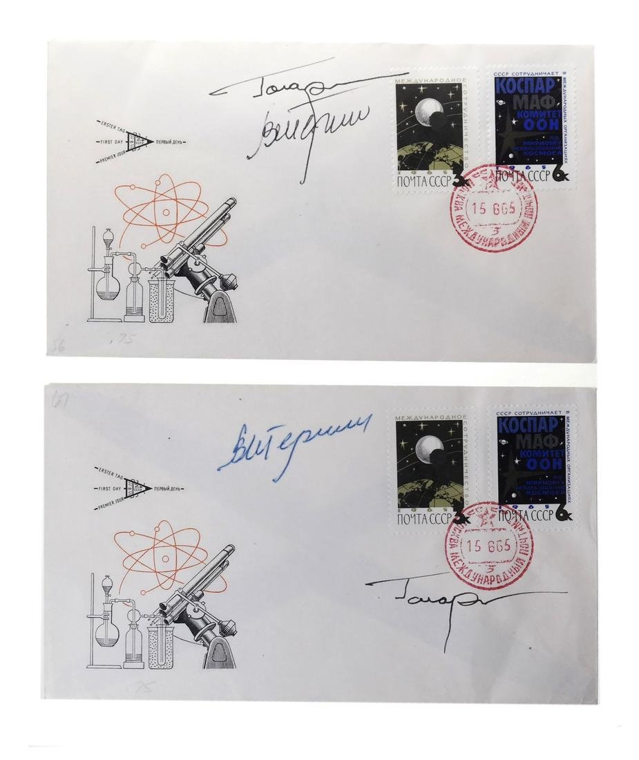 SOVIET COSMONAUT SIGNED PHILATELIC COVER HOARD
