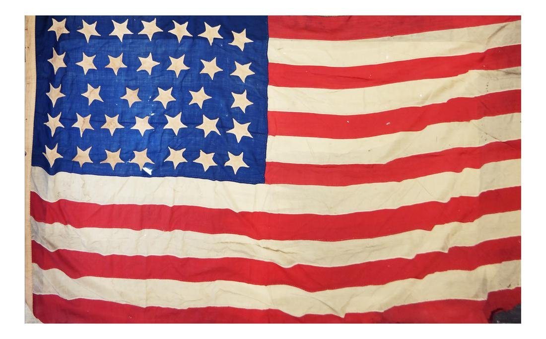 BREVET BRIGADIER-GENERAL JOHN T. LOCKMAN'S 34 STAR FLAG