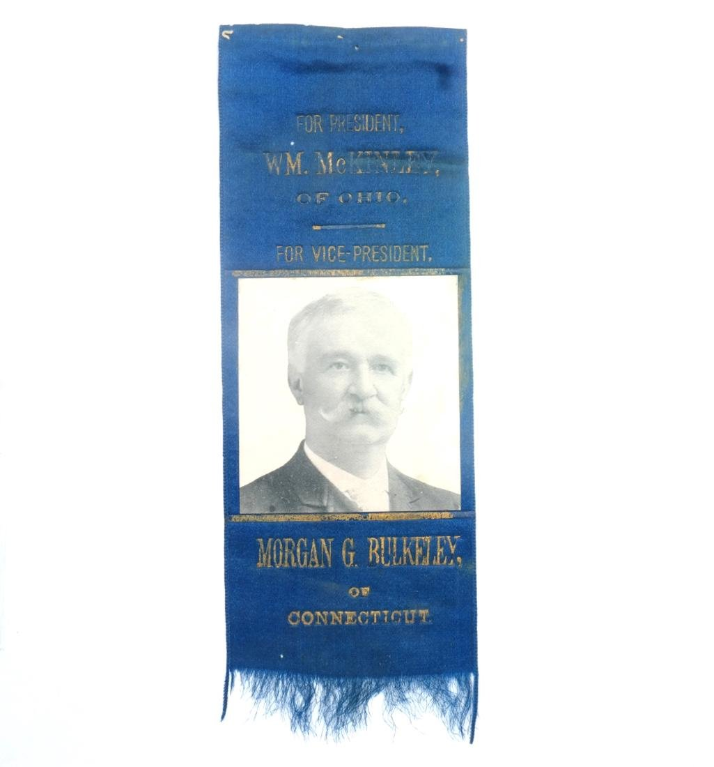 WM. MCKINLEY & M. BULKELEY 1896 CAMPAIGN RIBBON