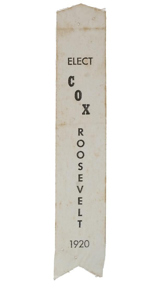 COX & ROOSEVELT 1920 SATIN RIBBON