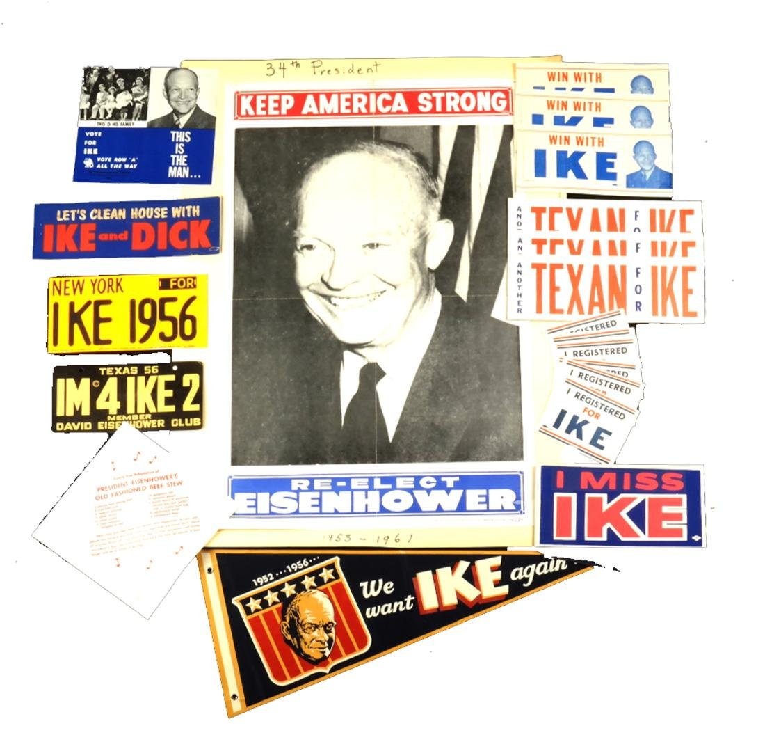 DWIGHT D. EISENHOWER 1952 & 1956 CAMPAIGN DISPLAY